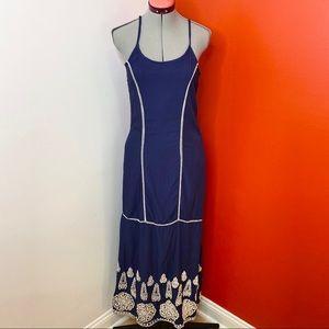 Dina Be Embroidered Eyelet Maxi Dress
